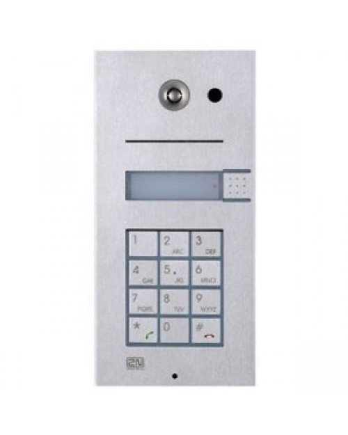 2N Helios IP Door Phone Single Button with Keypad and Video