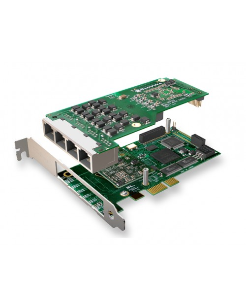 Sangoma A104DE Quad Span T1/E1 PCIe with Echo Cancellation