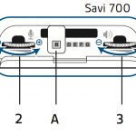 This image demonstrate the correct settings for the Savi office 700 series base
