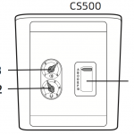 This image demonstrates the correct setting for the CS500 Base