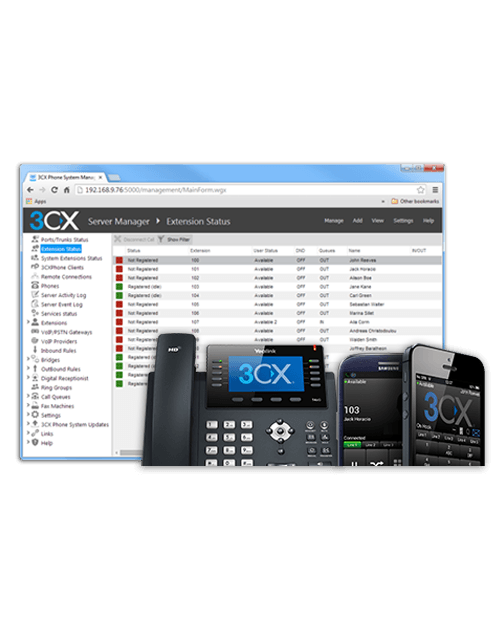 3CX Professional Phone System with 32 Simultaneous Calls